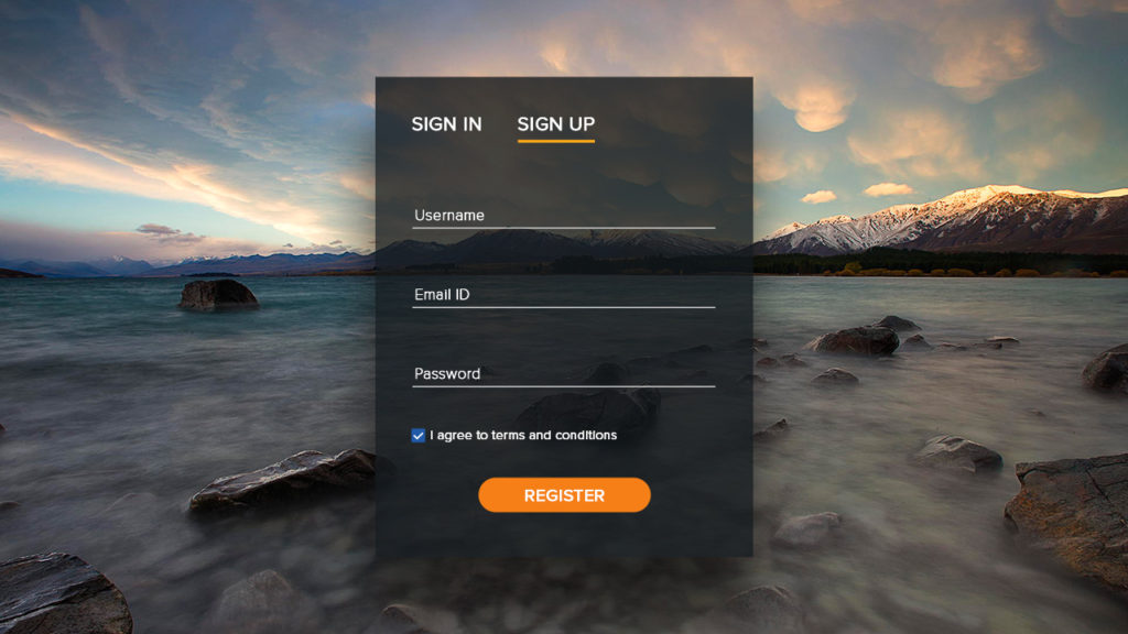 River_sign up